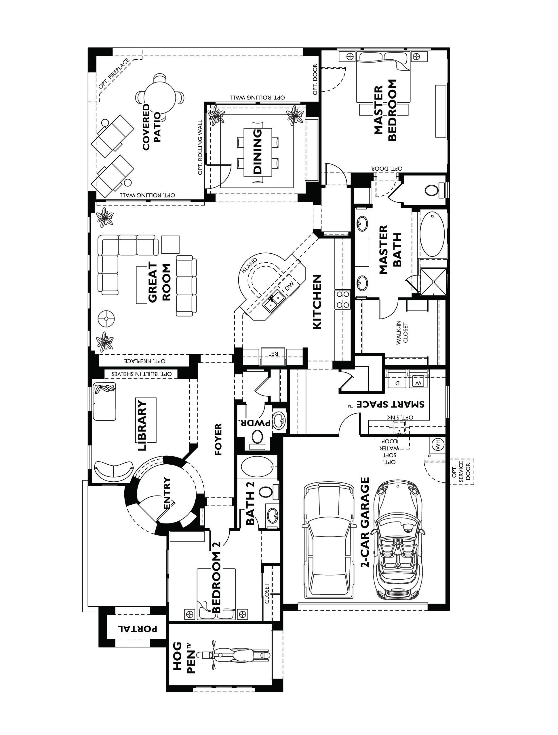 Trilogy at Vistancia Genova Floor Plan Model Hom