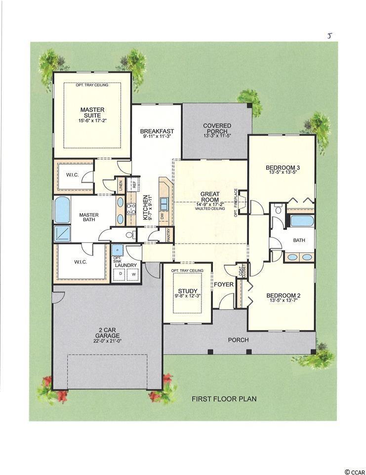 2800 sq ft floor plan at Sago Plantation
