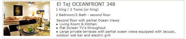 El Taj Oceanfront 348