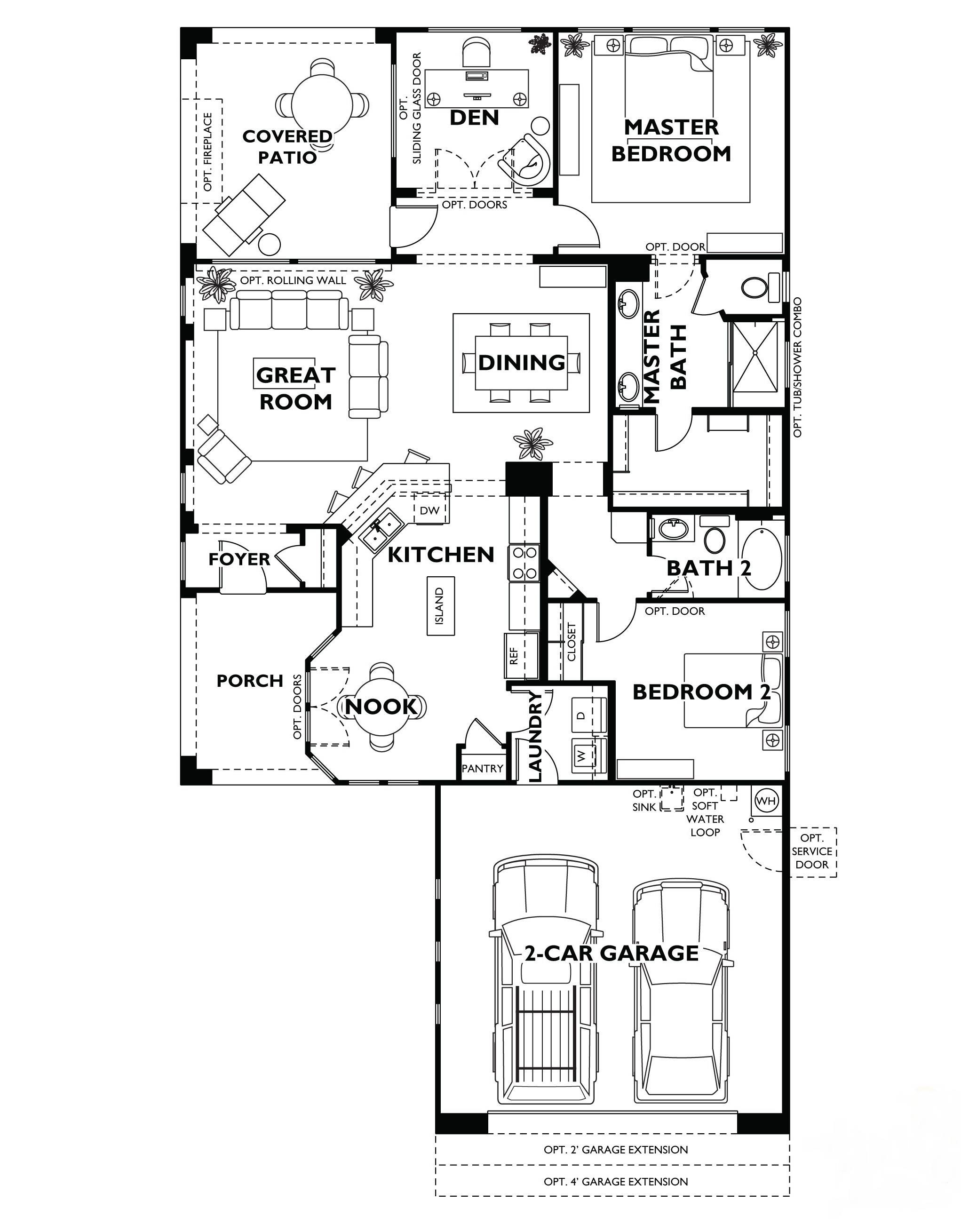 Trilogy at vistancia monaco floor plan model home shea for Custom home floor plans az