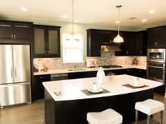 A view of the kitchen in the Matthew's Park model home
