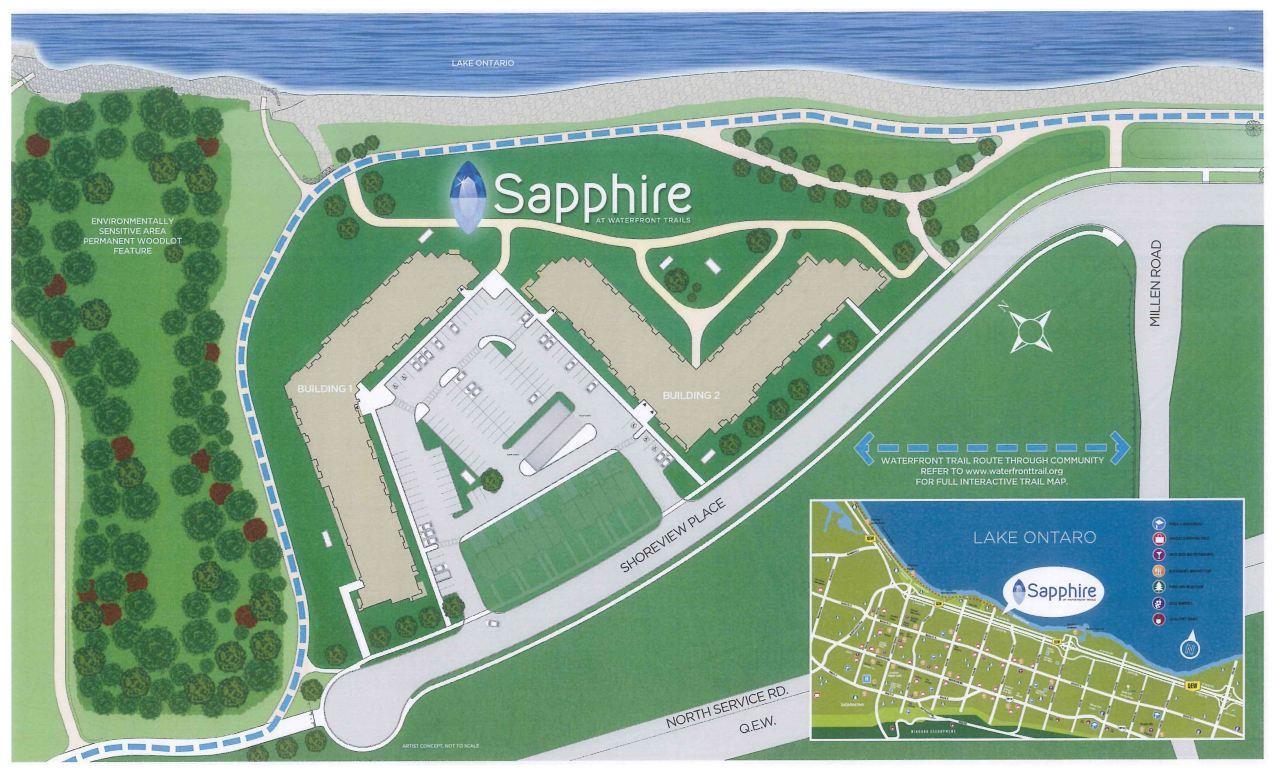 sapphire condos stoney creek map