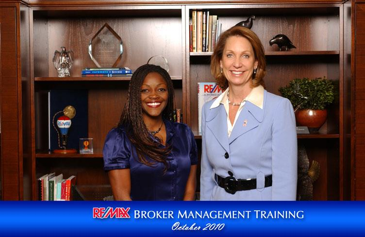 Cheryl with RE/MAX CEO, Margaret Kelly