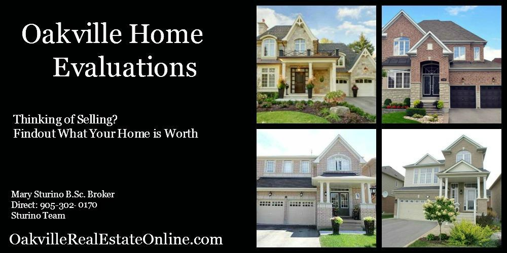 Oakville Home Evaluations Oakville Real Estate Values Mary Sturino Broker 905-302-0170