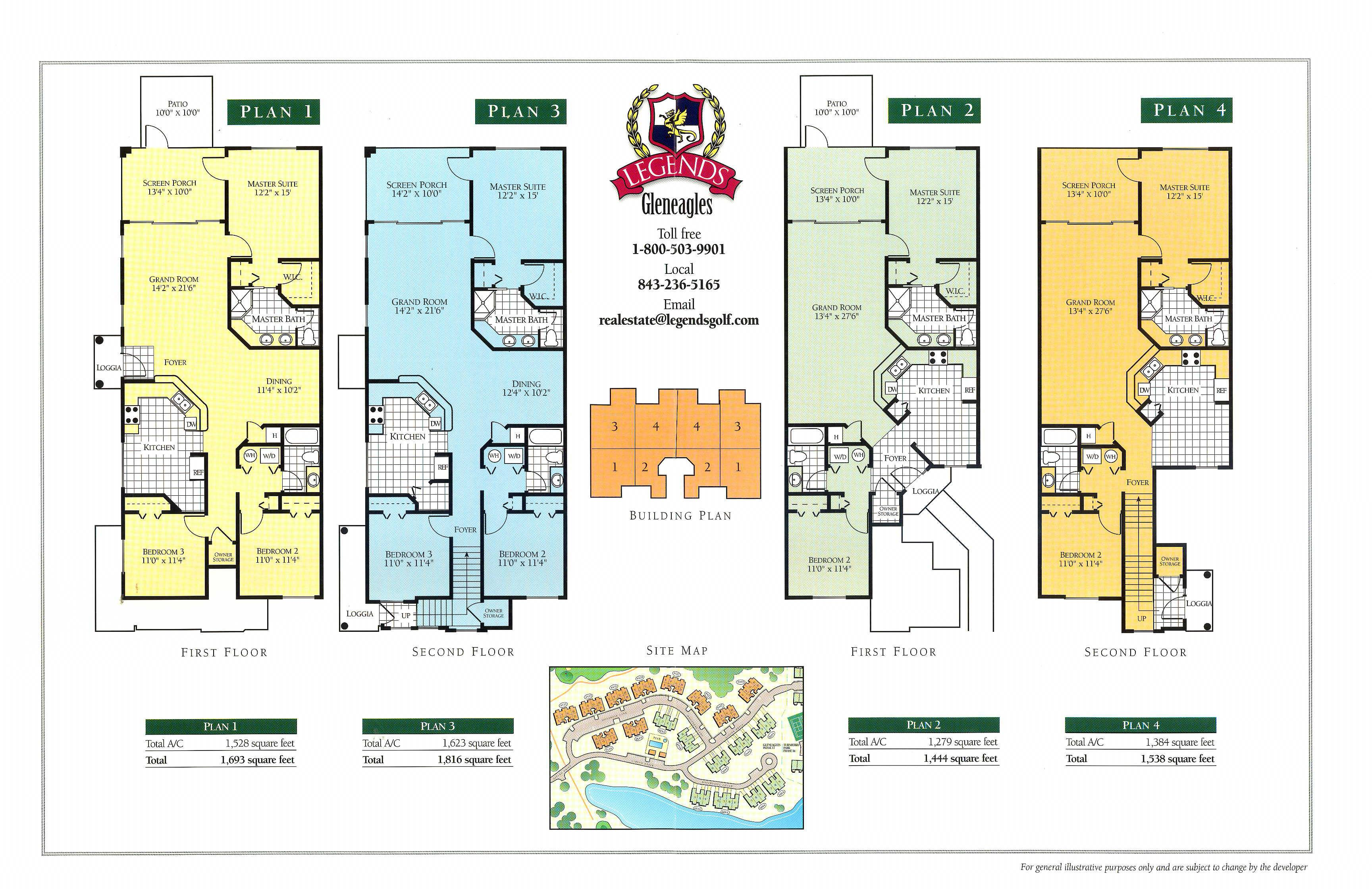 floorplans for gleneagles