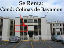 Condos for Rent/Lease in Colinas de Bayamon, Bayamon, Puerto Rico $850 monthly