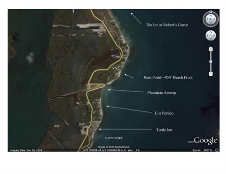 Satellite Photo (Rum Point) - with Labels
