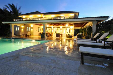 Punta Cana Luxury Villa For Sale | 4 BDR 600 | Punta Cana Resort,  Dominican. HOUSE AT NIGHT. Punta Cana Luxury Villa For Sale ...