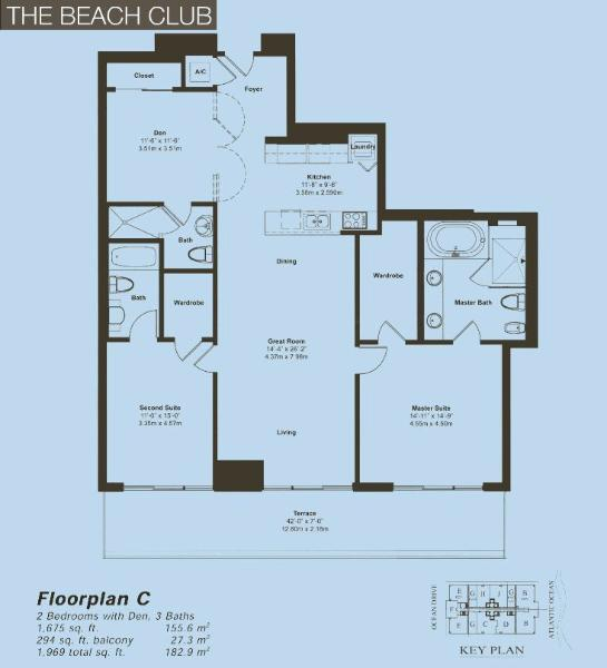 Beach Club II Floor Plan C