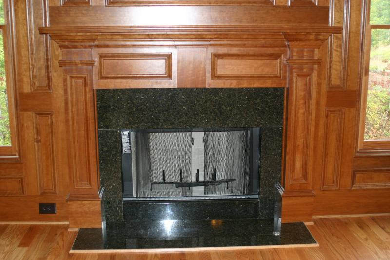 Cherry Mantle w/ Granite Surround