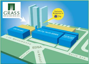 Grass Residences Location Map