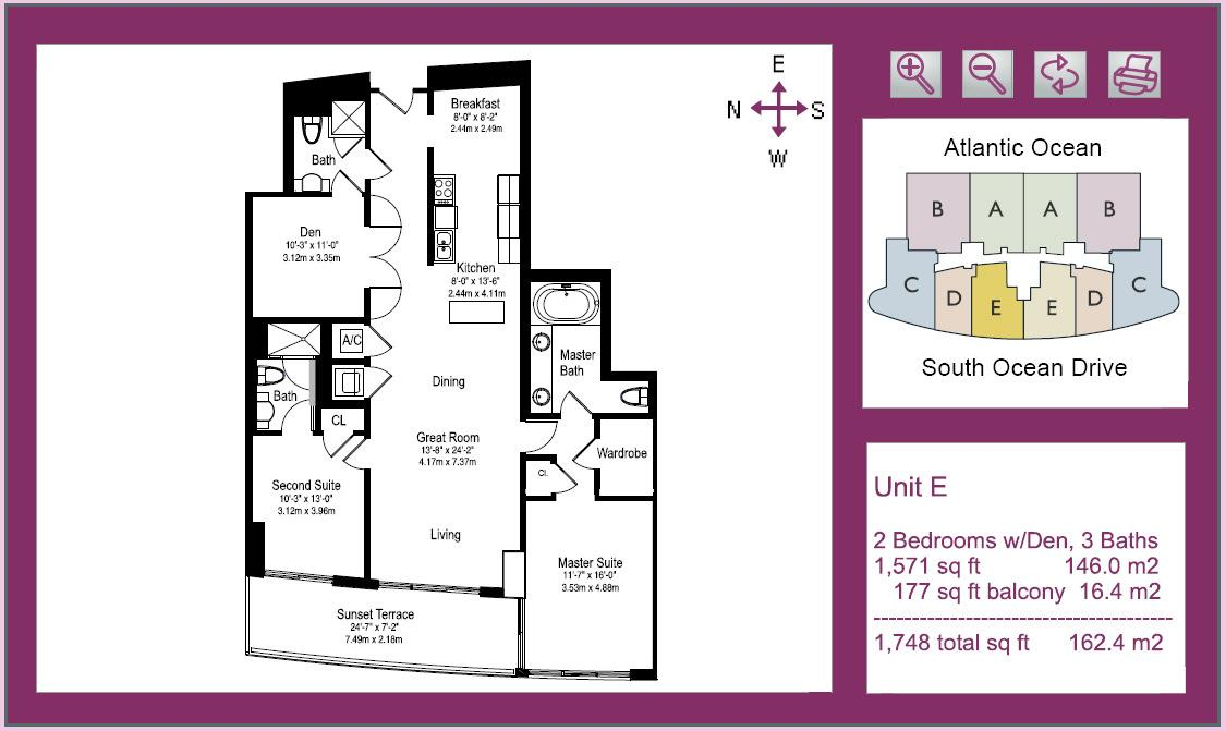 Beach Club Floor Plan E