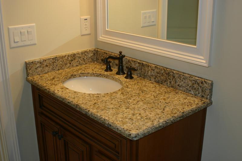 Granite top w/ biscuit undermount