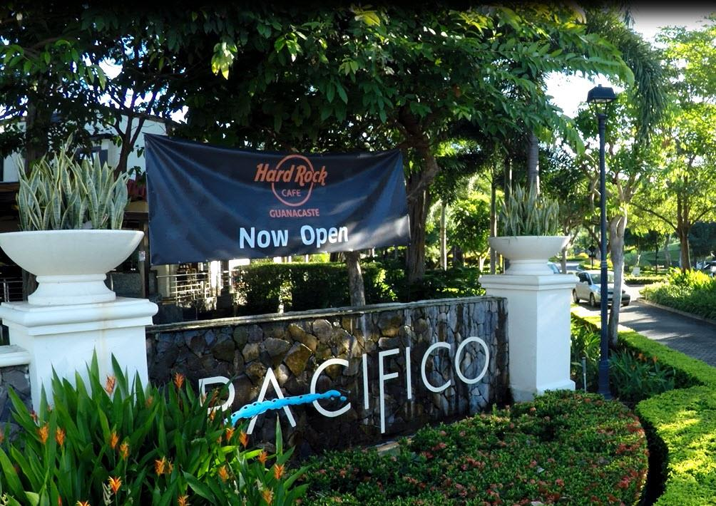 Sign at the entrance of Pacific Condos in Playas del Coco Costa Rica