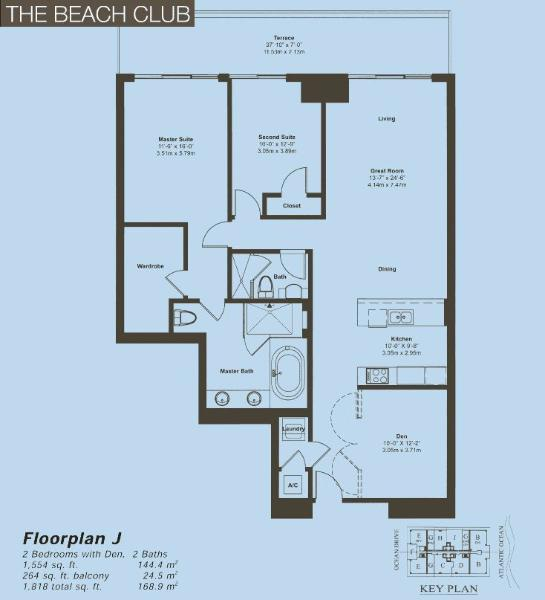 Beach Club II Floor Plan J