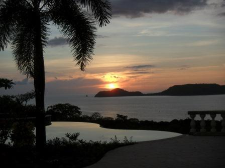 Sunset over the Gulf of Papagayo in Costa Rica
