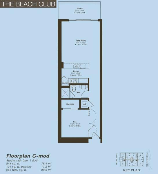 Beach Club II Floor Plan G