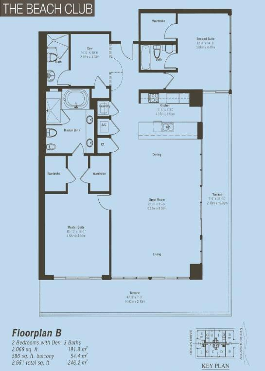 Beach Club Floor Plan B