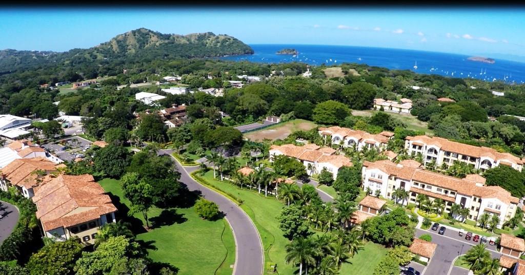Aerial view of condominium community in Costa Rica
