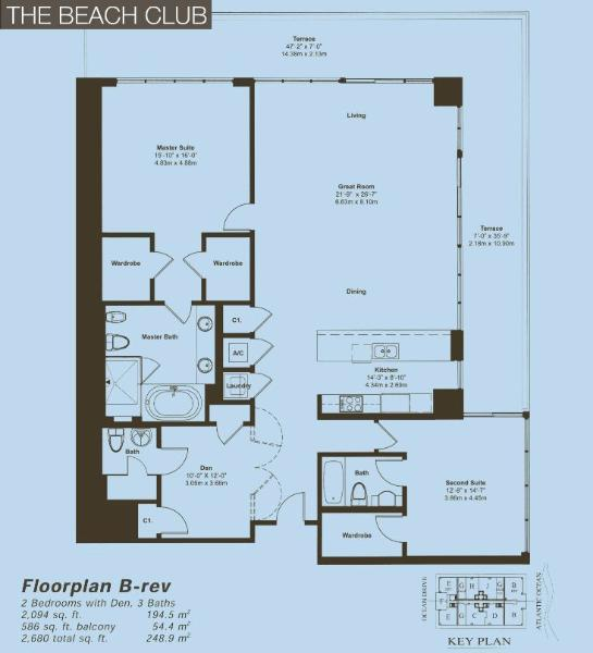 Beach Club Floor Plan B - Rev
