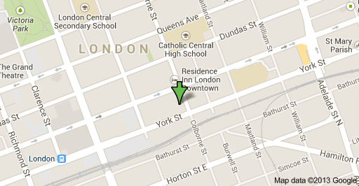 Map Downtown London.A Blog About Condos In London Ontario 323 Colborne Street London