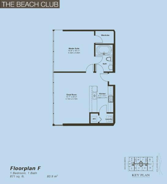 Beach Club II Floor Plan F