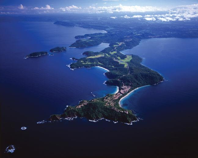 Aerial view of the Papagayo Peninsula