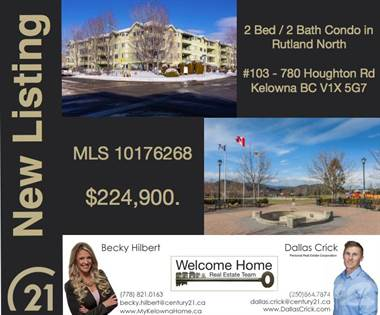 Condo for Sale  in 780 Houghton Rd, Kelowna, British Columbia, V1X5G7