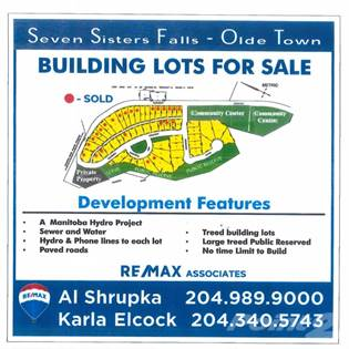 House For Sale Seven Sisters Building Lots, Seven Sisters Falls, MB