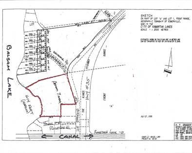 Land for Sale  in 0 Belvedere Dr, Kawartha Lakes, Ontario, K0M1N0
